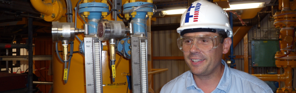 H&H Measurement CEO Huijsman at work on site